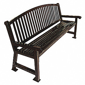 Outdoor Bench,48 in. L,39 in. H,Black