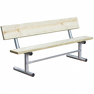Outdoor Bench,72 in. L,Woodtone