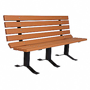 Outdoor Bench,96 in. L,Woodtone