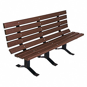 Outdoor Bench,72 in. L,Brown,RCYCLD