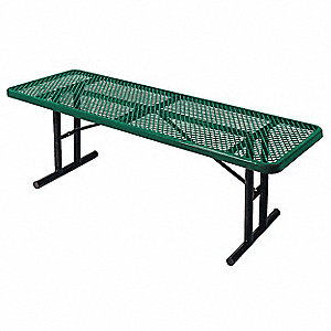 "96"" x 30"" x 30"" Steel Utility Table with 300 lb. Weight Capacity, Green"