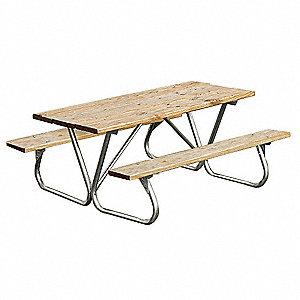 ULTRASITE D X W Rectangle Pressure Treated Wood Picnic Table - Pressure treated wood picnic table