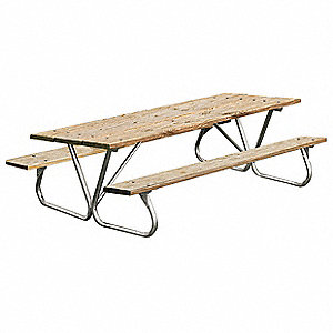 ULTRASITE D X W Rectangle Pressure Treated Wood Picnic Table - 96 picnic table