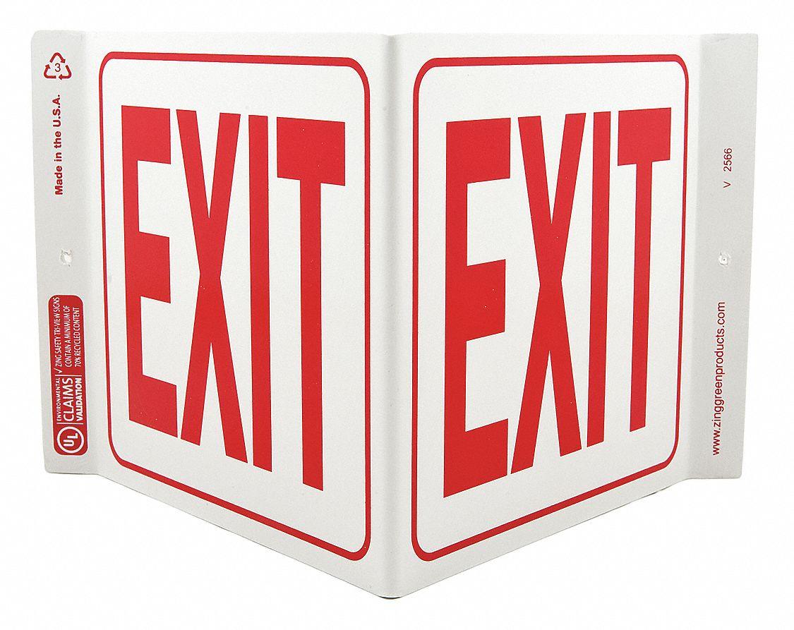 ZING Exit Sign, Exit, 7