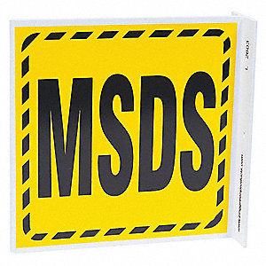 "SDS or Right to Know, Plastic, 7"" x 7"", With Mounting Holes, L-Shaped"