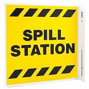 L SIGN SPILL STATION 7X7 PL