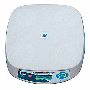 Magnetic Stirrer, Square, ABS Plycarbonate, 4L, 10 to 1200 rpm, Digital Display, 120 Volts
