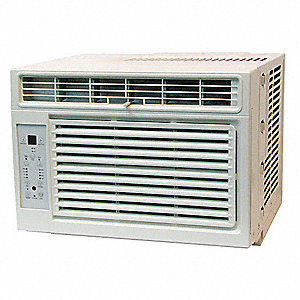 115V Window Air Conditioner, 8000 BtuH Cooling, Gray, Includes: Remote Control