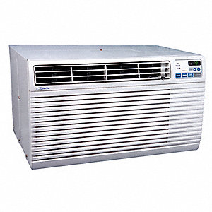 208/230 Wall Air Conditioner, 14,000/13,600 BtuH Cooling, Gray, Includes: Remote Control