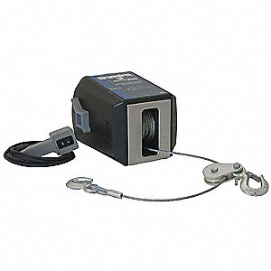 ELECTRIC WINCH,11-3/8 IN. L,WIRE