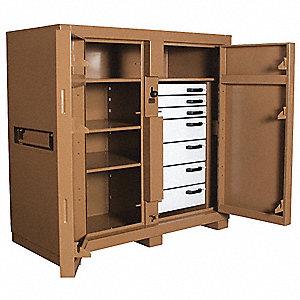 JOBSITE CABINET,2-DOOR,60 X30 X60 I