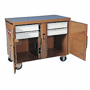 MOBILE WORKBENCH,46-1/4X25X37-1/2IN