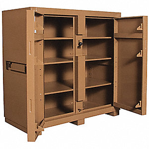 JOBSITE CABINET,60WX30DX60INH,TAN