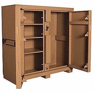 JOBSITE CABINET,2-DOOR,60 X24 X60 I