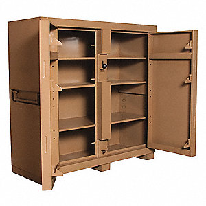 "60"" x 24"" x 60"" Jobsite Storage Cabinet, 47.5 cu. ft., Tan"