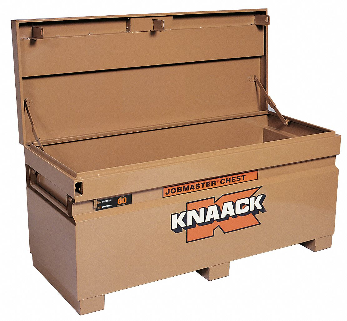 60 in Overall Width,  24 in Overall Depth,  28 1/4 in Overall Height,  Jobsite Box,  Tan
