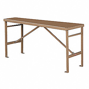 "Fixed Work Table,Steel,72-1/2""W,27-1/2""D"