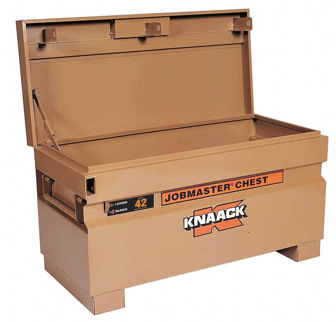 42 in Overall Width,  19 in Overall Depth,  23 3/8 in Overall Height,  Jobsite Box,  Tan