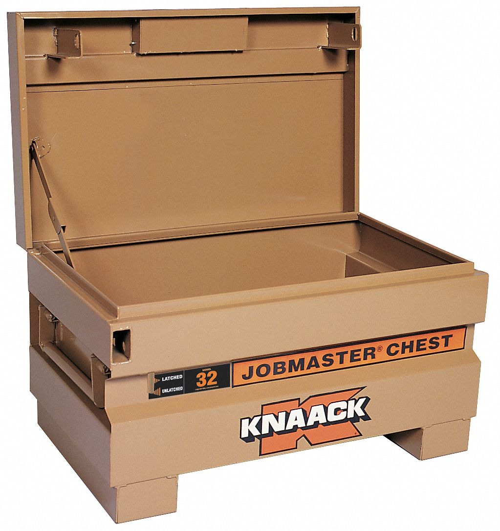 32 in Overall Width,  19 in Overall Depth,  18 1/2 in Overall Height,  Jobsite Box,  Tan