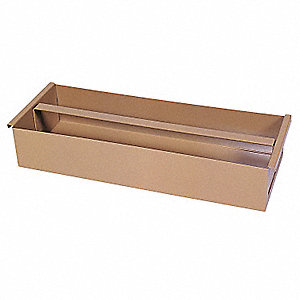 Tan Tool Tray, Height (In.): 4, Width (In.): 8, Length (In.): 21-5/8