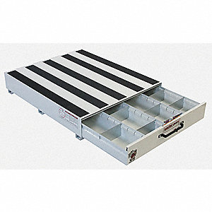 "White Truck or Van Storage Drawer, Steel, 30"" Width, 24"" Depth, Number of Drawers: 1"