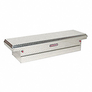 Aluminum Crossover Truck Box, Silver, Single, 8.8 cu. ft.