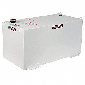 White Rectangle Liquid Transfer Tank, 100 gal. Capacity, 14 Gauge Steel