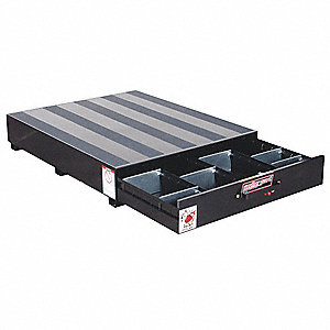 "Black Truck or Van Storage Drawer, Steel, 39-5/8"" Width, 48"" Depth, Number of Drawers: 1"