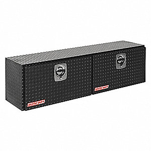 Aluminum Topside Truck Box, Black, Double, 10.8 cu. ft.