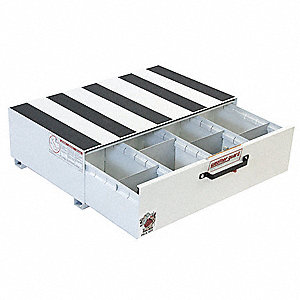 "White Truck or Van Storage Drawer, Steel, 24"" Width, 39-5/8"" Depth, Number of Drawers: 1"