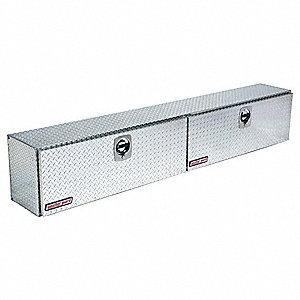 Aluminum Topside Truck Box, Silver, Double, 11.8 cu. ft.