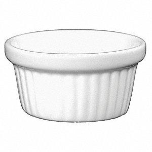 Iti Fluted Ramekin 3 Oz Ceramic European White 13r666 Ramf 3 Ew Grainger