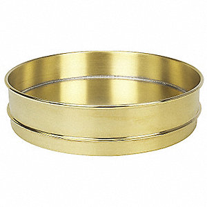 Pan,Brass,12 In Dia,2 1/2 In D