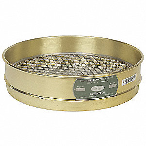 Sieve, #6, B/S, 12 In, Inter Ht