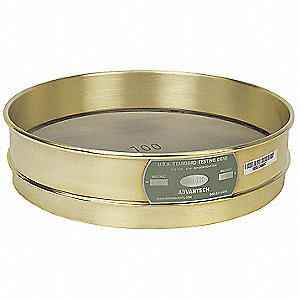 Sieve, #120, B/S, 12 In, Inter Ht