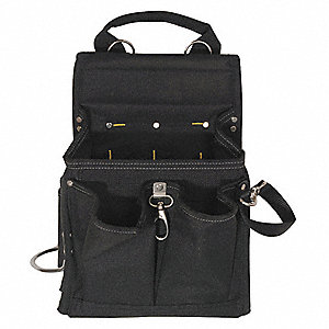 TOOL POUCH,POLY,20 POCKETS,11X4X13.