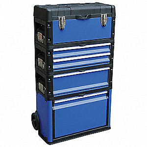 "Rolling Tool Chest, Polypropylene, Steel, 20-1/16"" Overall Width x 11-7/8"" Overall Depth"
