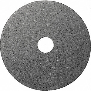 "5"" Coated Fiber Disc, 7/8"" Mounting Hole Size, Medium, 120 Grit Ceramic, 25 PK"
