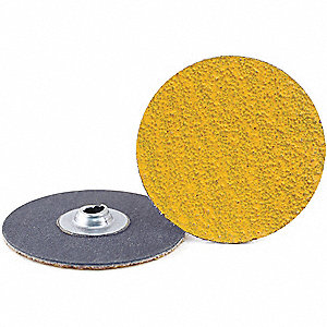 "2"" Quick Change Disc, Ceramic, Turn-On/Off, 24 Grit, Extra Coarse, Coated, Predator, PK100"