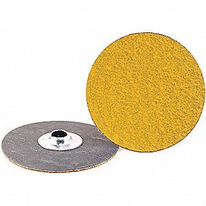 "3"" Coated Quick Change Disc, TS/TSM Turn-On/Off Type 2, 50, Coarse, Ceramic, 50 PK"
