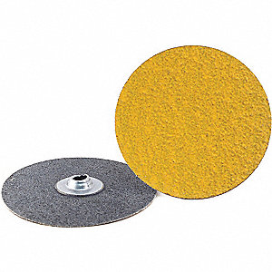 "4"" Coated Quick Change Disc, TS/TSM Turn-On/Off Type 2, 60, Coarse, Ceramic, 25 PK"