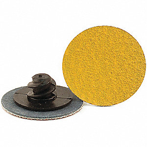 "1"" Coated Quick Change Disc, TR Roll-On/Off Type 3, 60, Coarse, Ceramic, 100 PK"