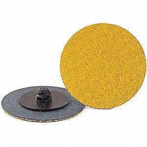 "2"" Coated Quick Change Disc, TR Roll-On/Off Type 3, 80, Coarse, Ceramic, 100 PK"