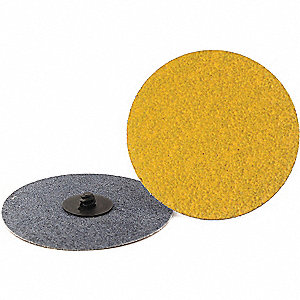 "4"" Coated Quick Change Disc, TR Roll-On/Off Type 3, 80, Coarse, Ceramic, 25 PK"