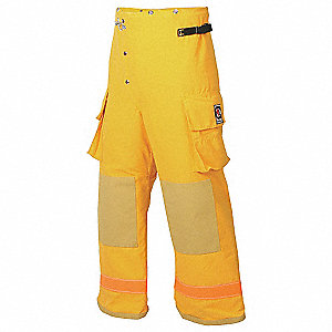 Turnout Pants,Yellow,M,Inseam 29 In.