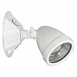1-Lamp Halogen Wet Location Remote Head, 6V, 5.0W, White Aluminum