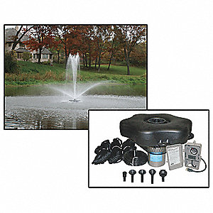 3/4 HP Pond Decorative Fountain System, 120V Voltage, 6.5 Full Load Amps, 702 Full Load Watts