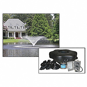 3/4 HP Pond Aerating Fountain System, 240V Voltage, 3.7 Full Load Amps, 788 Full Load Watts