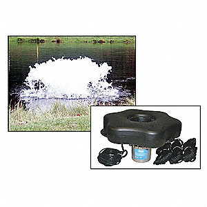 1/2 HP Pond Surface Aeration System, 120V Voltage, 5 Full Load Amps, 540 Full Load Watts