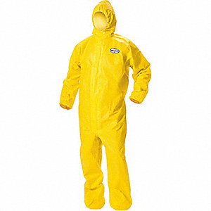 COVERALLS ZIP FRNT W/HD+ELAS 2XL